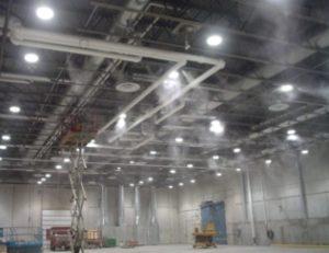 Nawilżanie powietrza w hali przemysłowej