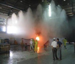 Systemy mgłowe gaszenia pożaru